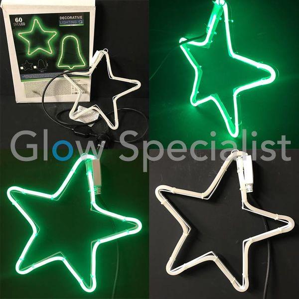 LED DECORATIVE LIGHTING - 60 LED - GREEN - STAR