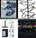 LED CLUSTERVERLICHTING - 1512 LAMPJES - MULTICOLOR - MET 8 LICHTFUNCTIES