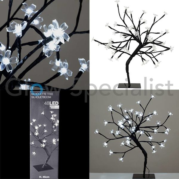 LED BLOESEMBOOM - 45 CM - KOEL WIT - 48 LED