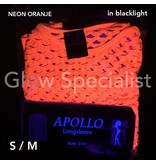 UV / BLACKLIGHT NEON SHIRT WITH BIG HOLES - ORANGE