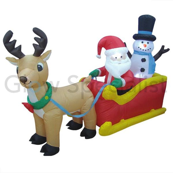 INFLATABLE FIGURE SANTA'S SLEIGH - 200 CM
