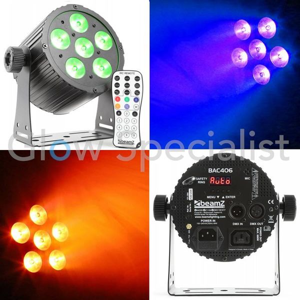BAC406 ALUMINUM LED SPOT 6x18W 6-IN-1 LED