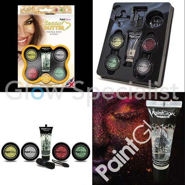 PAINTGLOW CLASSIC GLITTER GIFT SET FOR FACE, BODY & NAILS