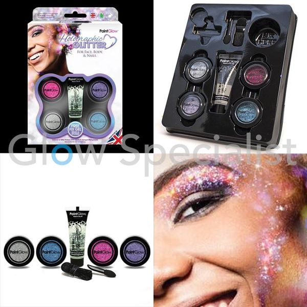 PAINTGLOW HOLOGRAPHIC GLITTER GIFTSET FOR FACE, BODY & NAILS