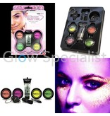 - PaintGlow PAINTGLOW UV REACTIVE GLITTER GIFTSET FOR FACE, BODY & NAILS
