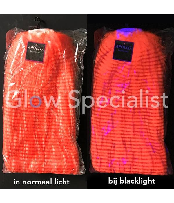 UV / BLACKLIGHT BEENWARMERS PLUCHE - NEON ORANJE