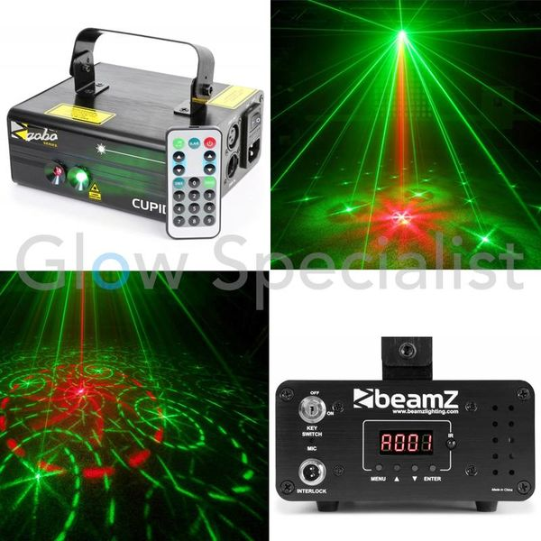 BEAMZ CUPID DOUBLE LASER 210MW RB GOBO DMX IRC
