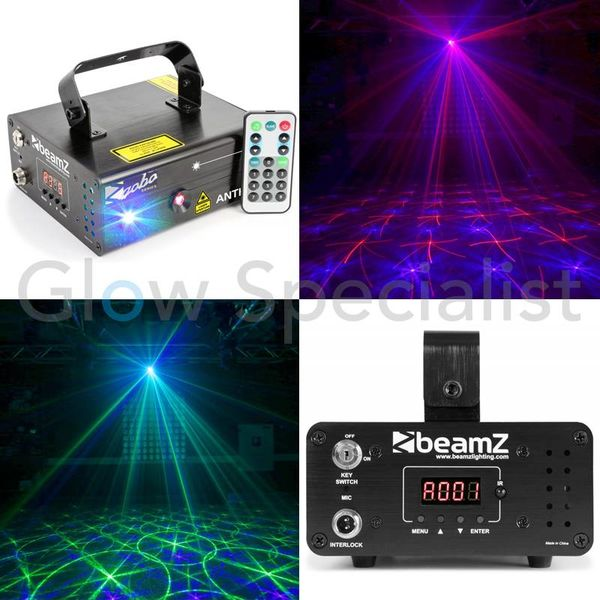 BEAMZ ANTHE II DOUBLE LASER 250MW RB GOBO DMX IRC