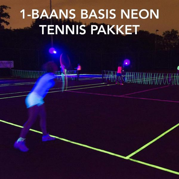 1-BAANS BASIS NEON TENNIS PAKKET