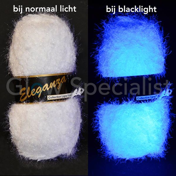 UV / BLACKLIGHT FANTASY YARN -  ELEGANZA - WHITE