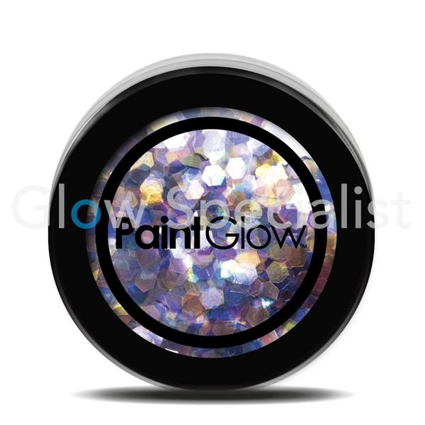 PAINTGLOW UV CHUNKY HOLOGRAPHIC GLITTER - DUSK TILL DAWN