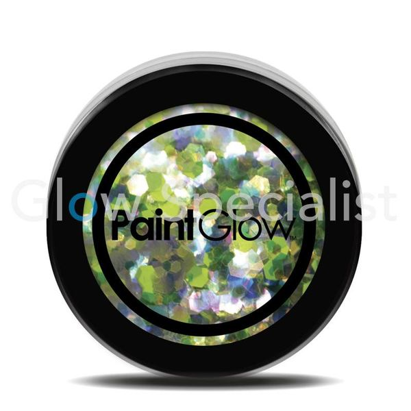 PAINTGLOW UV CHUNKY HOLOGRAPHIC GLITTER - LUCKY LEPRICORN