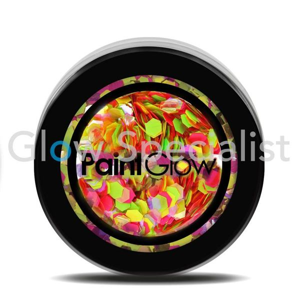 PAINTGLOW UV CHUNKY HOLOGRAPHIC GLITTER - RAINBOW RAVE
