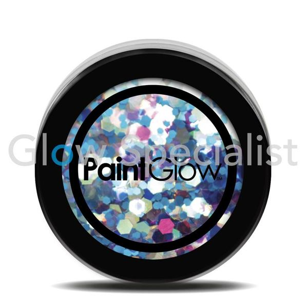 PAINTGLOW UV CHUNKY HOLOGRAPHIC GLITTER - MERMAID MIST