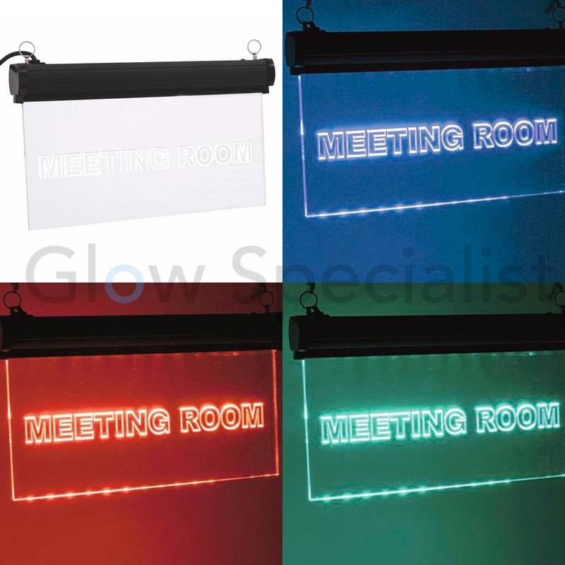 EUROLITE LED Sign Meetingroom RGBc Leuchtschild Büro Besprechnugsraum Räume