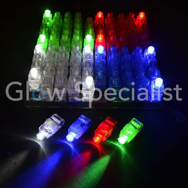 FINGER LIGHTS - TRAY OF 100 PIECES - 4 COLORS