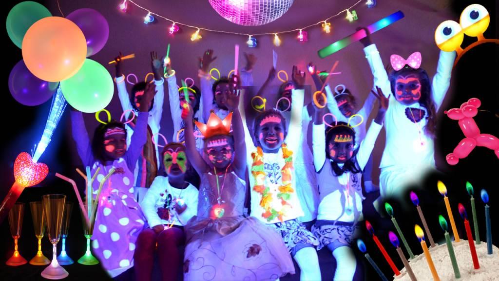 Kinderfeestje organiseren? Maak er een Glow-in-the-dark feestje van!
