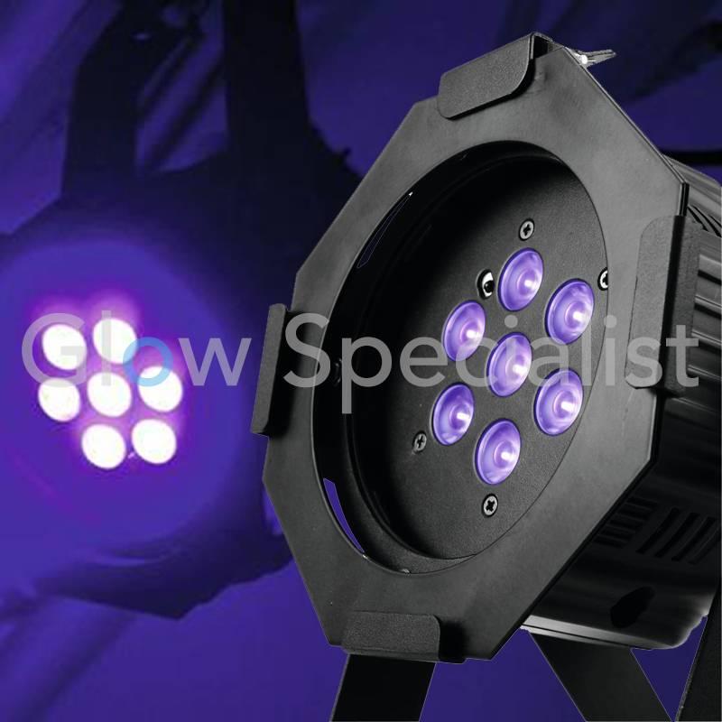 eurolite led ml 30 uv 7 x 1 w incl ir glow specialist glow specialist