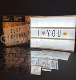 LED LIGHT BOX A4 - 10 LED -  BATTERY OPERATED - 100 LETTERS