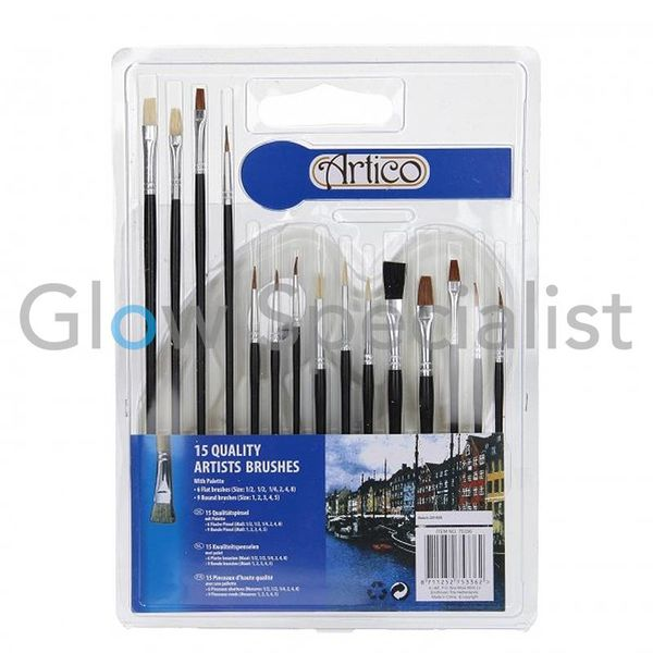 PAINTBRUSH & PALETTE - 16 PCS SET