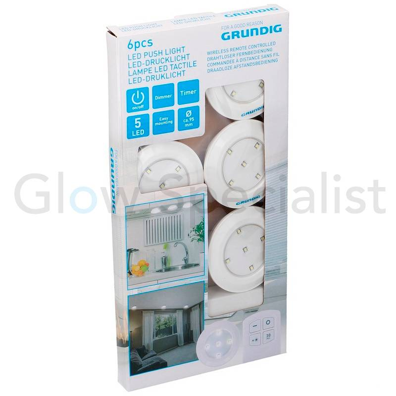 Wireless Led Dimmable Pressure Lights With Remote Control And Timer