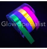 UV NEON PLAK MEMO ROL - MET 4 KLEUREN TAPE