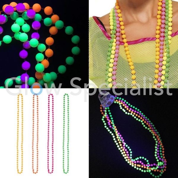 UV NEON KRALENKETTING - SET VAN 4