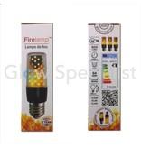 Firelamp FIRELAMP™ 3W - 300 LUMEN - E27M - 64 SMD - 1800K - ZWART HELDER