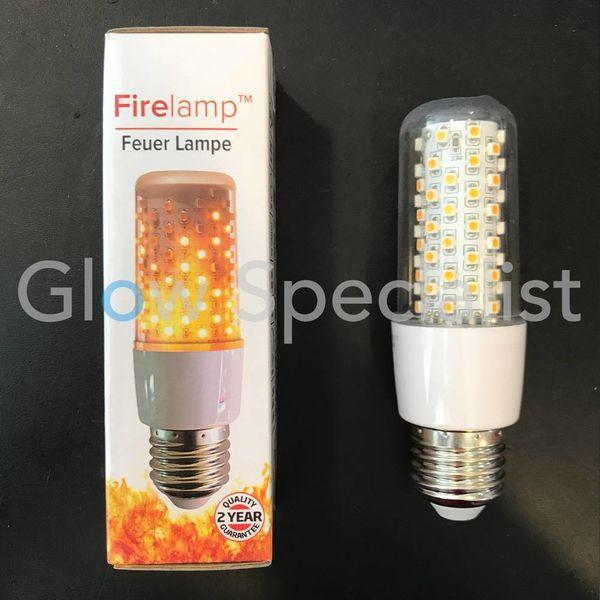 FIRELAMP™ 3W - 300 LUMEN - E27M - 64 SMD - 1800K - HELDER