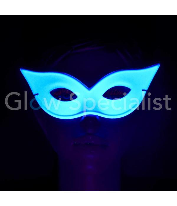 UV/BLACKLIGHT OOGMASKER - VLINDER - WIT