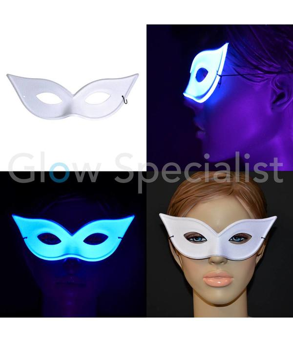 UV / BLACKLIGHT EYE MASK - BUTTERFLY - WHITE