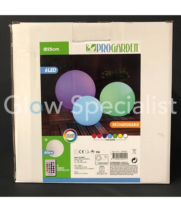 OUTDOOR LED BALL - 25CM - COLOR CHANGING WITH REMOTE CONTROL - 25 CM