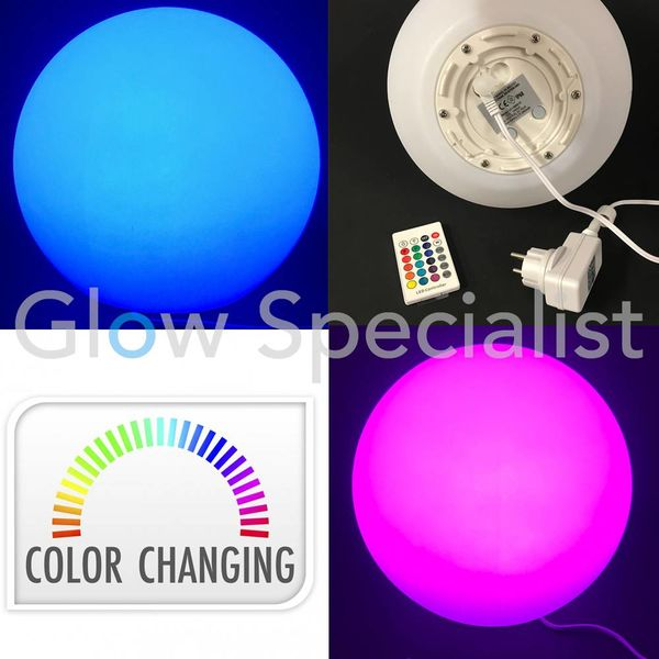 OUTDOOR LED BALL - 25CM - COLOR CHANGING WITH REMOTE CONTROL