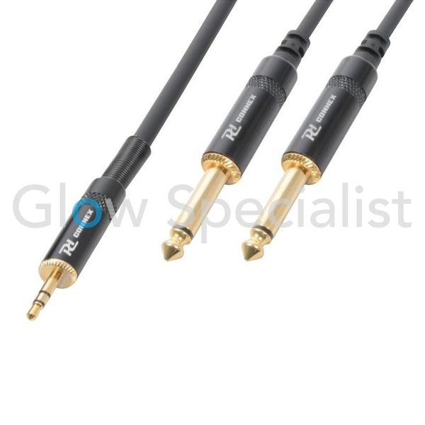 POWER DYNAMICS CONNEX - HQ KABEL 3,5 MM STEREO - 2x 6,3 MM MONO - 3 METER