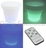 Europalms LED FLOWER POT  WITH RR REMOTE AND RECHARGEABLE BATTERY - 66 x 62 CM
