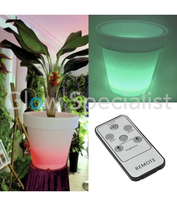 Europalms LED FLOWER POT  WITH RR REMOTE Y - 67 x 67 CM