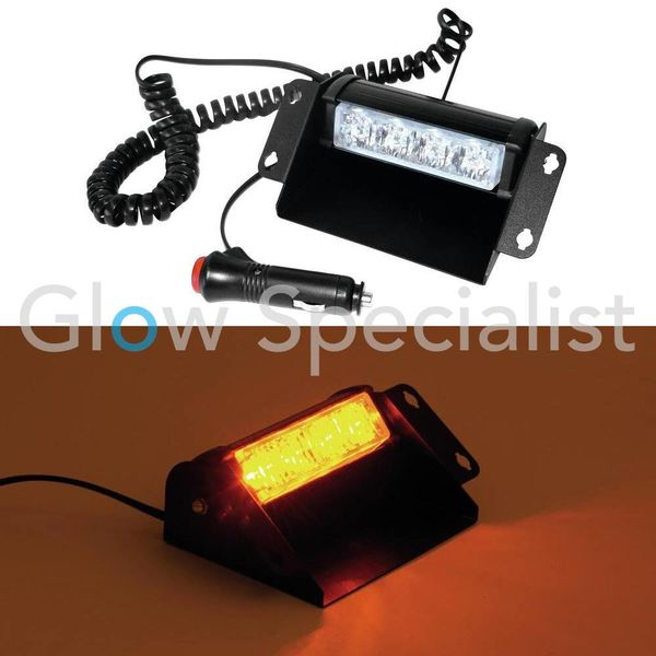 EUROLITE LED POLICE LIGHT PRO 12V - AMBER HIGH POWER