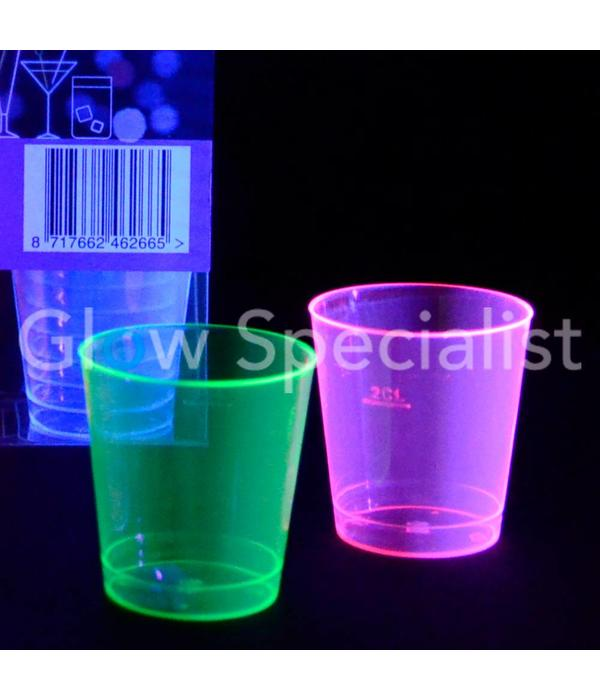 NEON SHOT CUPS - ASSORTED - 50 PCS - 30 ML