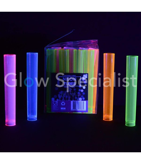 NEON TUBE SHOTS - ASSORTED - 20 PIECES