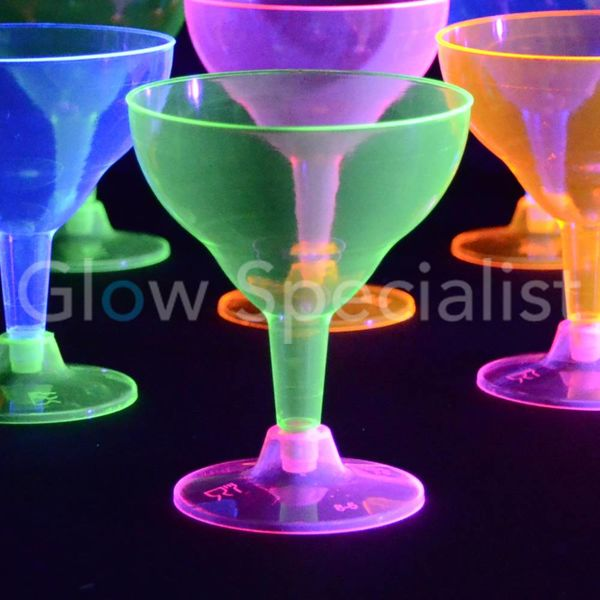 NEON MARGARITA CUPS - ASSORTED - 12 PIECES
