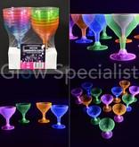 NEON MARGARITA CUPS - ASSORTED - 12 PIECES