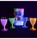 NEON WINE CUPS - ASSORTED - 12 PIECES