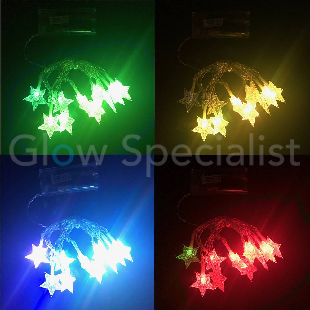 LED CHRISTMAS LIGHTS 10 STARS - COLOR CHANGING - Glow Specialist ...