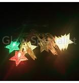 LED KERSTVERLICHTING 10 STERREN - COLOR CHANGING