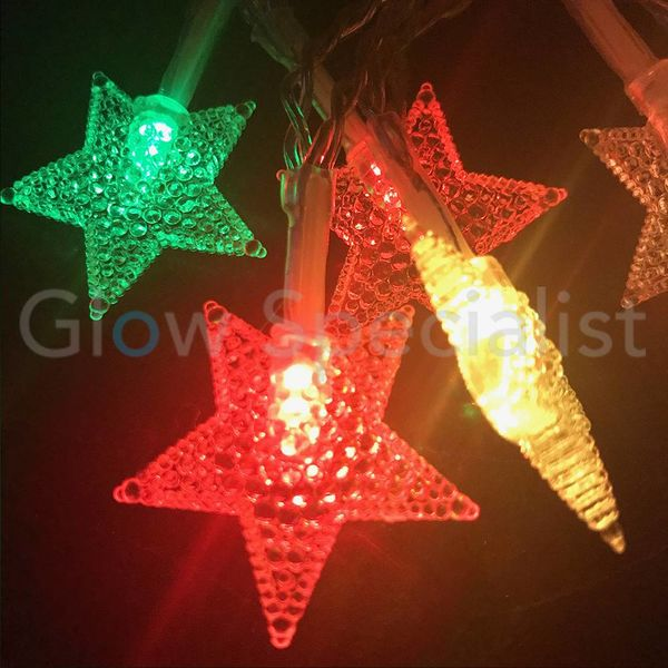LED CHRISTMAS LIGHTS 10 STARS - COLOR CHANGING