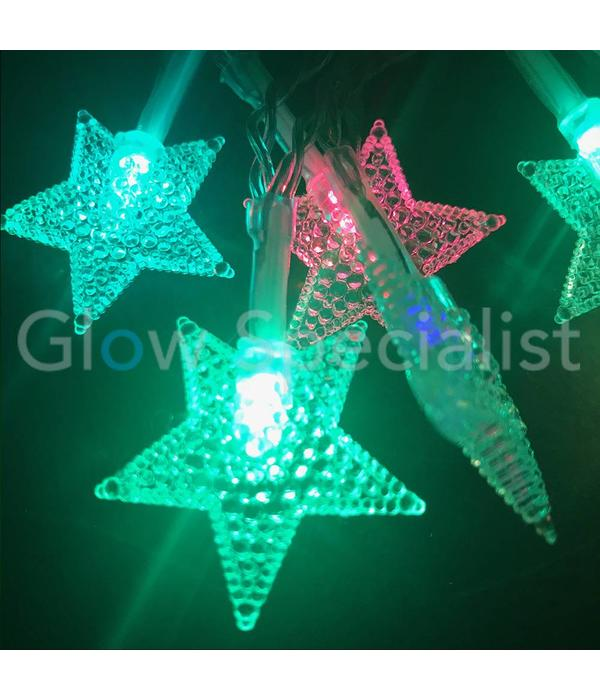 LED CHRISTMAS LIGHTS 10 STARS - COLOR CHANGING