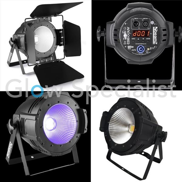 BEAMZ COB 100 WATT UV PAR - WITH BARN DOOR SET