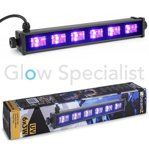 BeamZ UV LED BAR - BUV63 - 6x3W
