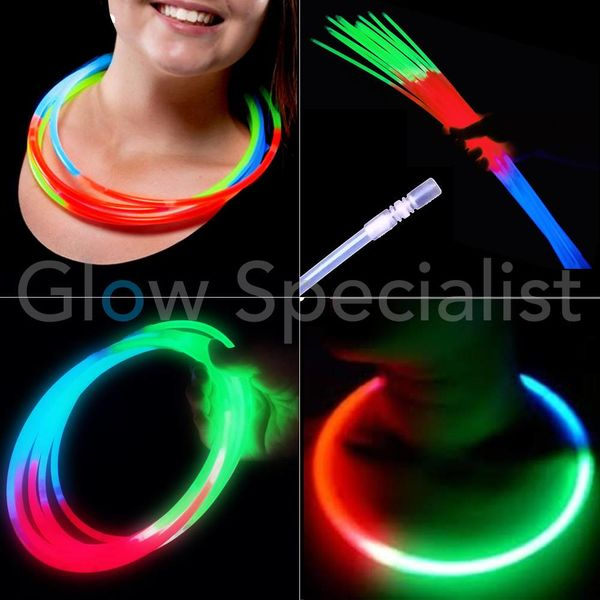 GLOW NECKLACE ​​- TRICOLOR - 50 PIECES