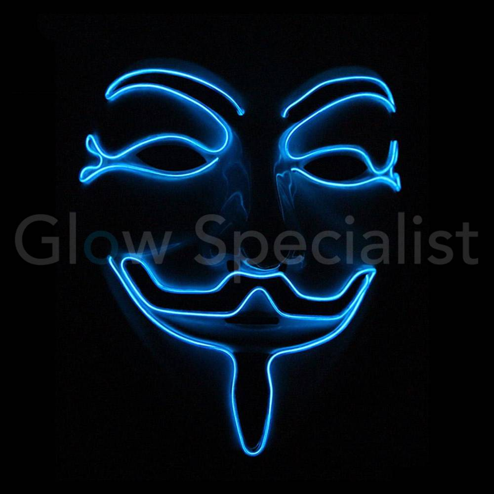 El Wire Anonymous V Mask For Vendetta Blue